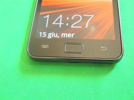 Samsung galaxy S2: tre tasti frontali