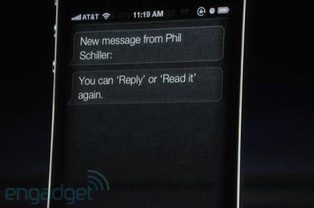 iPhone 4S, risposte vocali agli SMS