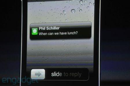 iPhone 4S, lettura degli SMS