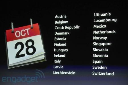 iPhone 4S, in Italia dal 28 ottobre