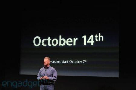 iPhone 4S, in America dal 14 ottobre