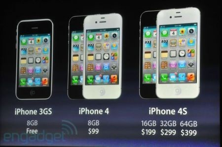 iPhone 4S, tornano anche iPhone 4 e iPhone 3GS