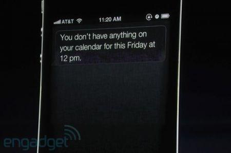 iPhone 4S, Siri controlla i nostri impegni