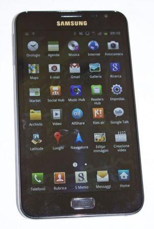 Samsung Galaxy Note menu