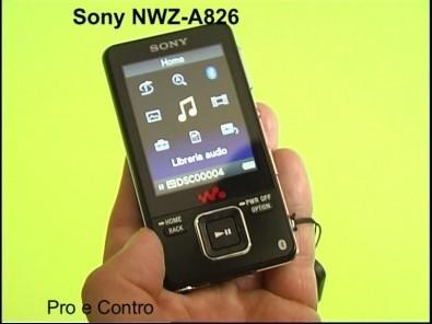 Prova Sony NWZ-A826