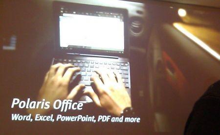 Asus Eee Pad Transformer Prime con la suite per ufficio