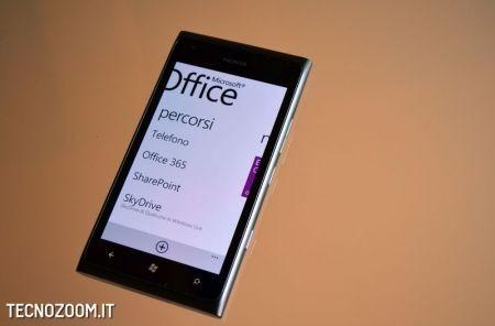 Nokia Lumia 900, il menu della suite Office