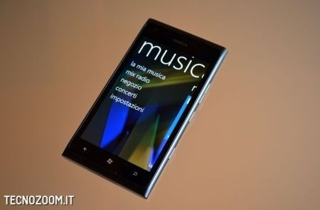 Nokia Lumia 900, la sezione Musica