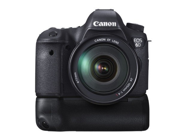 Canon EOS 6D - Fronte con battery grip