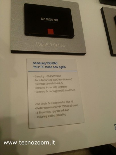 Samsung SSD Global Summit 2012 specs 840
