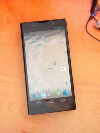 Sony Nexus X - Foto spia fronte