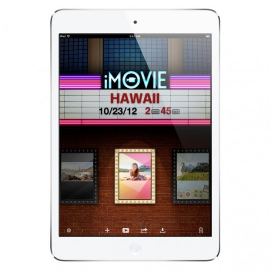 iPad mini - iMovie