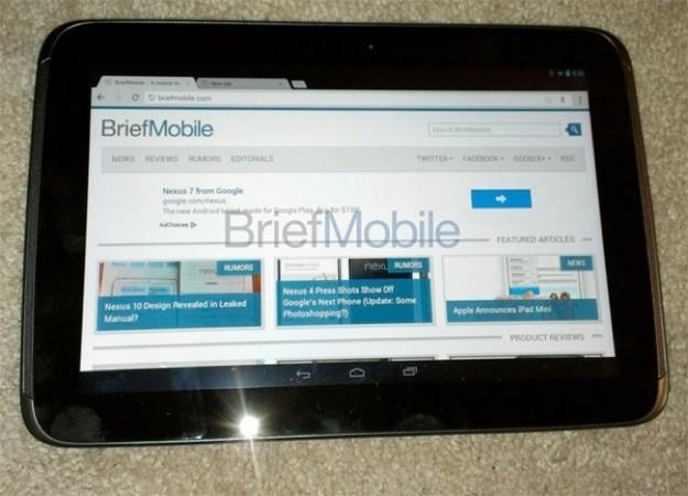 Samsung Nexus 10, video e foto dal vivo del nuovo tablet Android