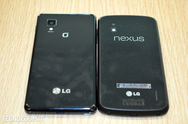 Google Nexus 4 recensione - Confronto retro LG Optimus G