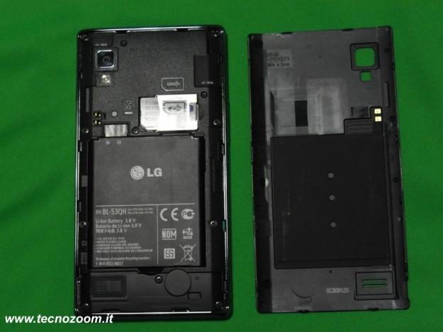 lg optimus l9 vano batteria