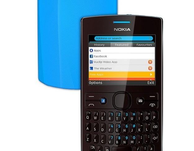 Nokia Asha 205 - Cover azzurra