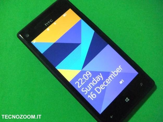 HTC 8X schermata blocco