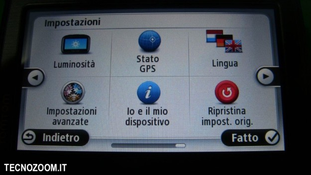 TOMTOM VIA 130 menu interno