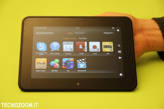Kindle Fire HD: recensione del tablet anti iPad Mini [FOTO]