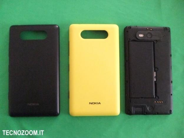 Nokia Lumia 820 cover gialla nera
