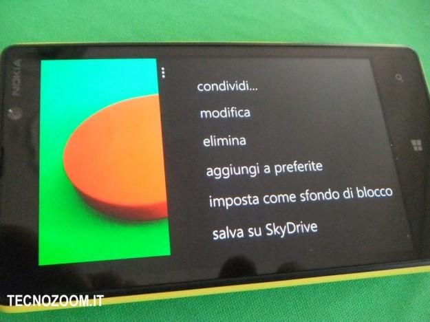 Nokia Lumia 820 menu fotografia