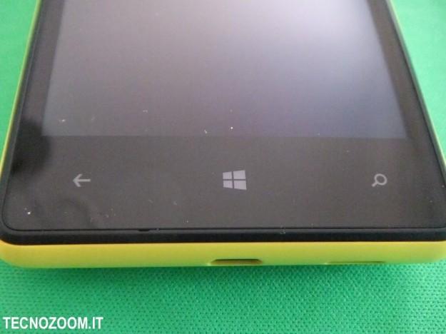 Nokia Lumia 820 pulsanti sfioro