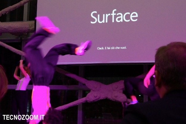 Microsoft Surface acrobazia