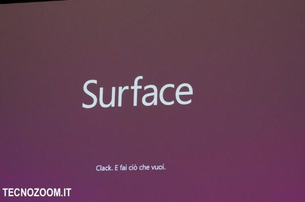 Microsoft Surface presentazione italiana