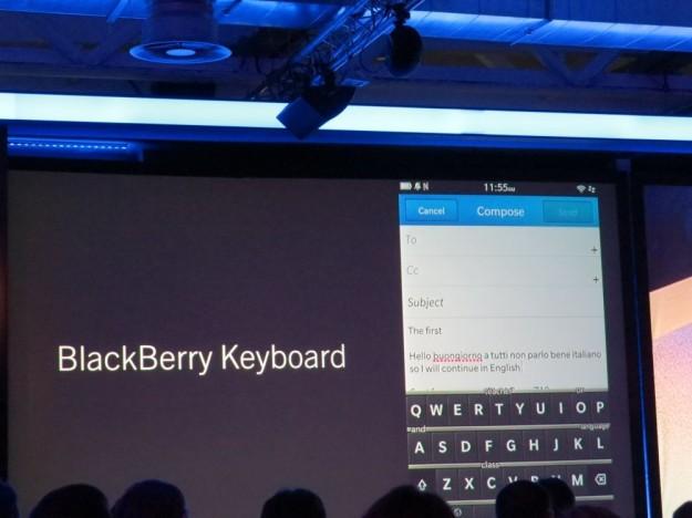 Blackberry 10 Keyboard
