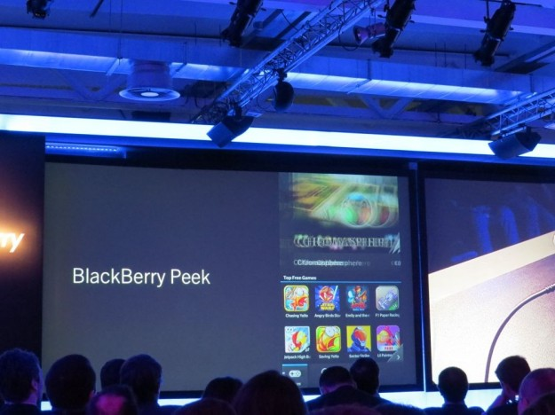 Blackberry 10 Peek