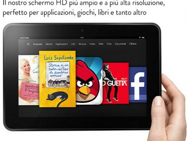 Interfaccia personalizzata Amazon Kindle