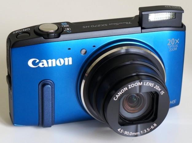 Canon PowerShot SX280 HS nella colorazione blu