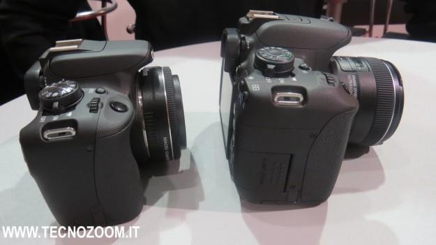 Lato destro di Canon EOS 100D e Canon EOS 700D