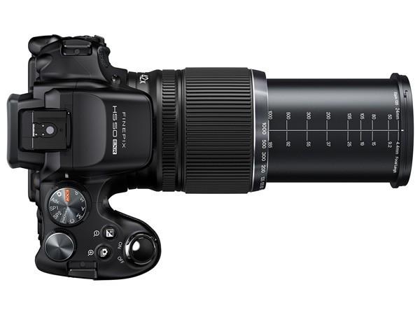 Fujifilm HS50 vista dall'alto