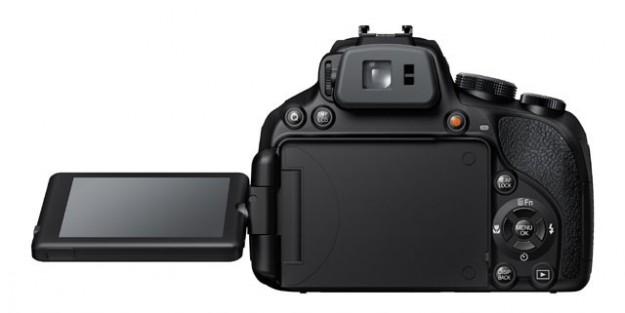 Fujifilm HS50 visuale dal retro