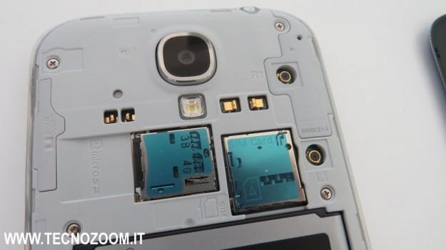 Ingresso microSD e microSim
