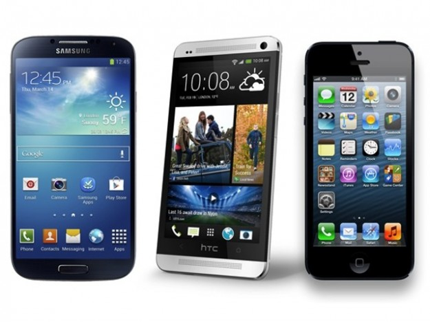 Samsung Galaxy S4 vs HTC One vs iPhone 5