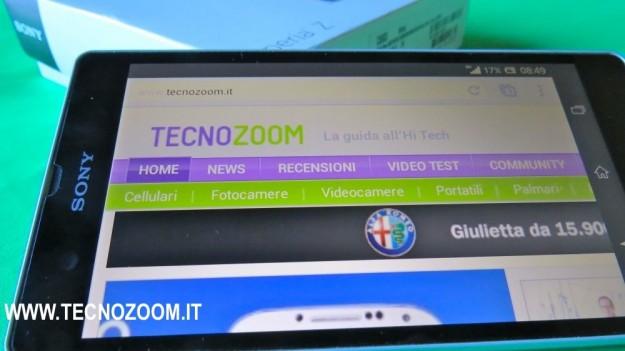 Sony Xperia Z browser web