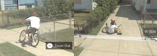 Bambino cade dalla bici