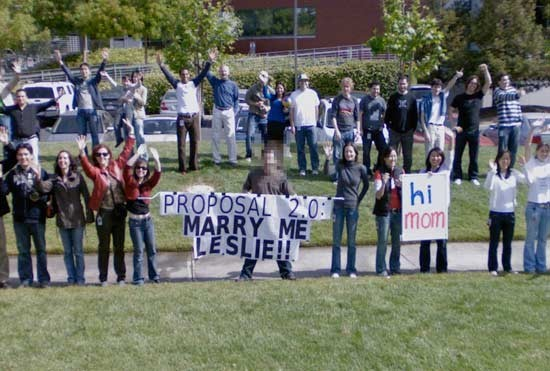 Proposta di matrimonio su google maps