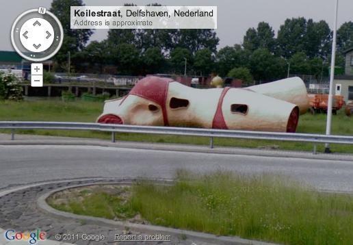 Cadavere gigante su google maps