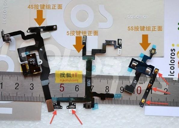 iPhone 5S componenti paparazzati