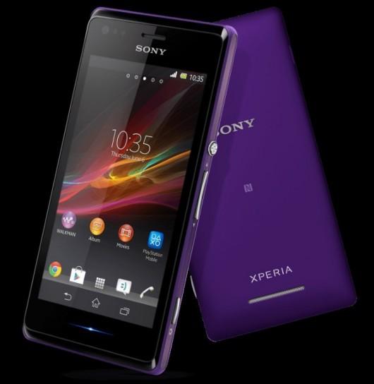 Sony Xperia M viola