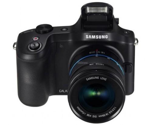 Samsung Galaxy Camera NX vista dal fronte