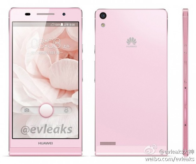 Huawei Ascend P6 rosa
