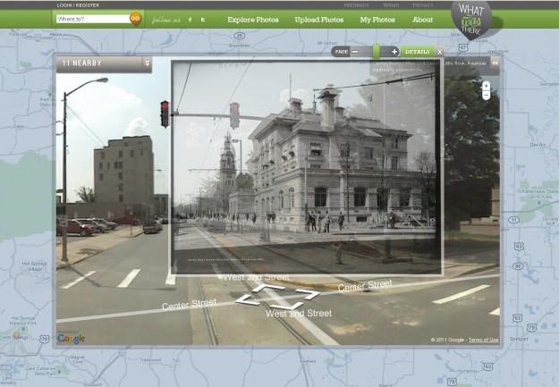 Arkansas foto prima e dopo con Google Maps