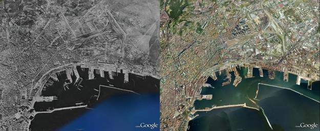 Google Maps Napoli prima e dopo la guerra