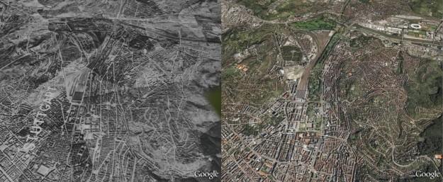 Google Maps Stoccarda prima e dopo