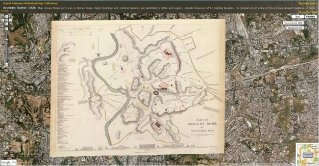 Google Maps Roma antica e moderna