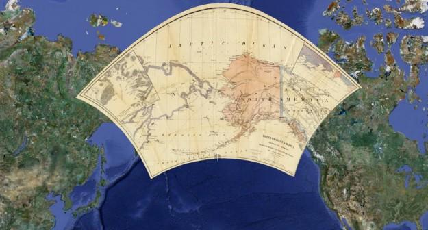 Google Maps prima e dopo Alaska e Asia